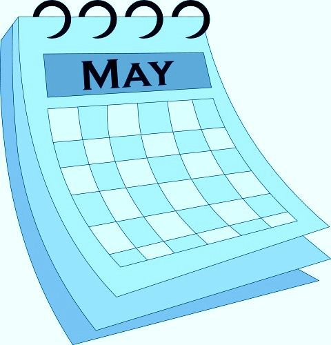 May vector. Clipart calendars graphics arts