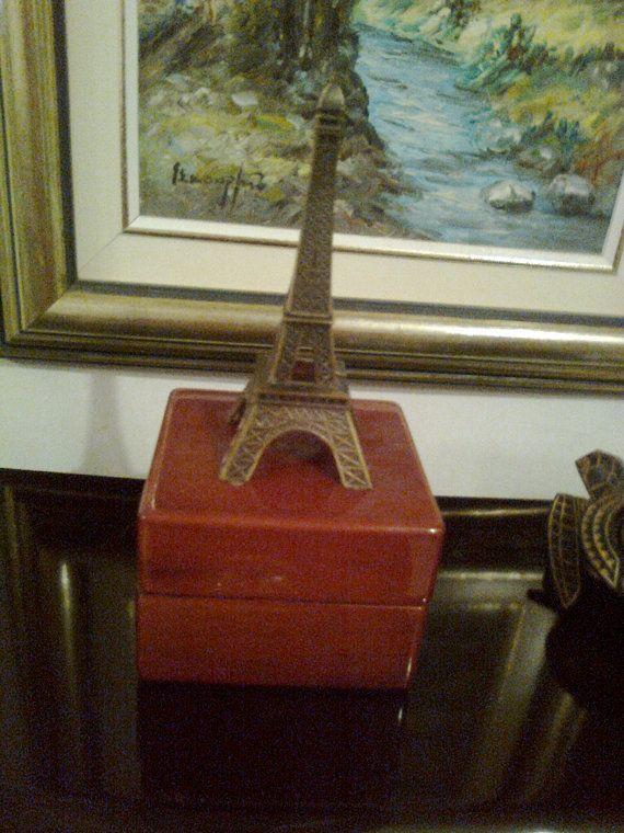 Brown wooden jewelry box / vintage 90s brown by Vintageandelegant, €22.00