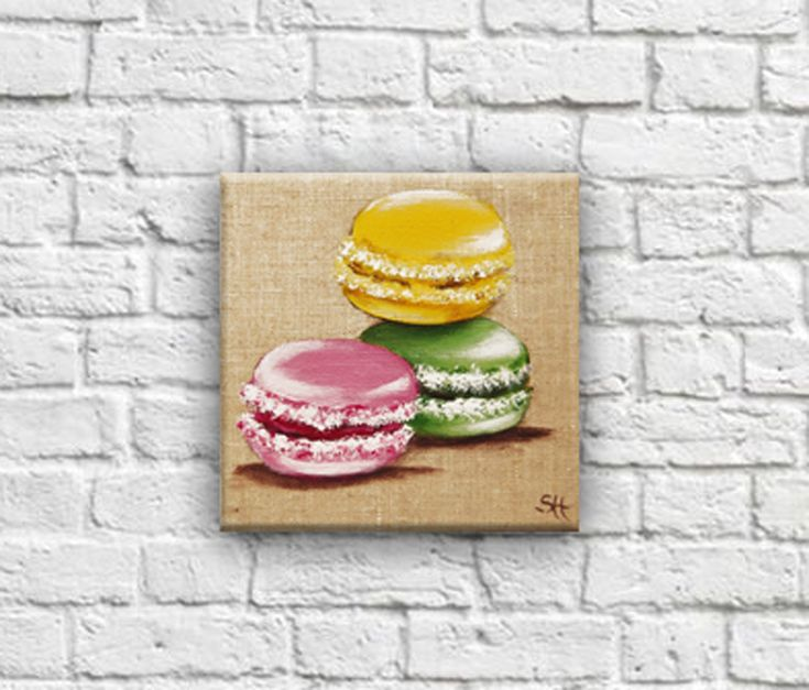 Tableautin trio de macarons ! Spécial gourmand!