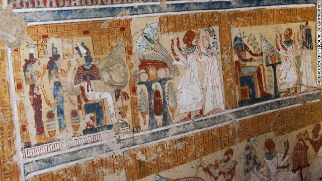 "Tomb of ancient Egypt's beer maker to gods of the dead discovered... The tomb, replete with highly colored frescoes, is being hailed as one of the most significant finds of recent times. Egypt's antiquities minister Mohamed Ibrahim described Khonso Em Heb as the chief ""maker of beer for gods of the dead"" adding that the tomb's chambers contain ""fabulous designs and colors, reflecting details of daily life... along with their religious rituals."""