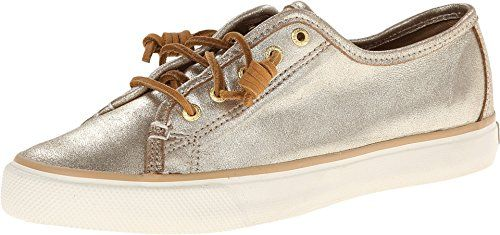 Sperry Top-Sider Women's Seacoast Fashion Sneaker, Platinum, 6 M US