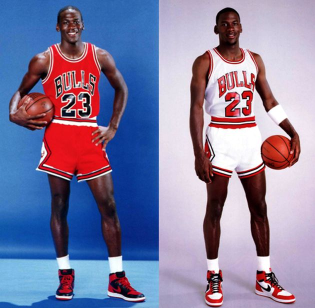Michael Jordan na campanha do 1º Nike Air Jordan