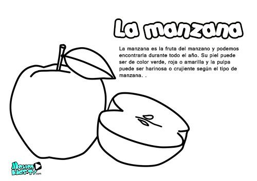 frutas coloring pages - photo#46