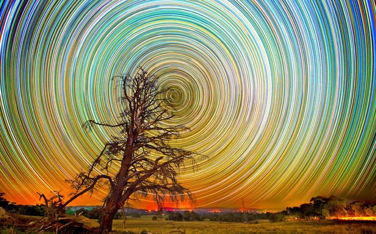 Star trails over the Australian Outback by photographer Lincoln Harrison