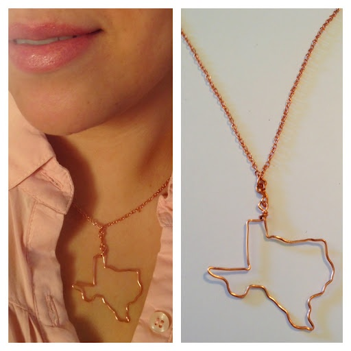 DIY State Necklace: Wire Jewelry, Diy States, Wire Necklaces, Necklaces Tutorials, Diy'S, Diy Jewelry, U.S. States, States Necklaces, State Necklace