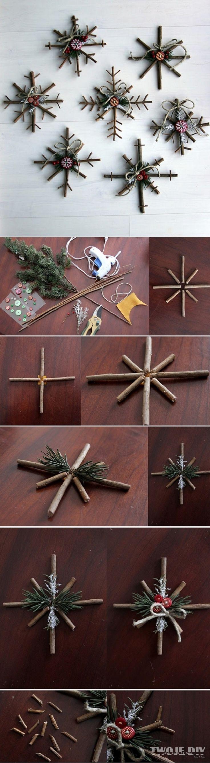 woodland snowflake DIY
