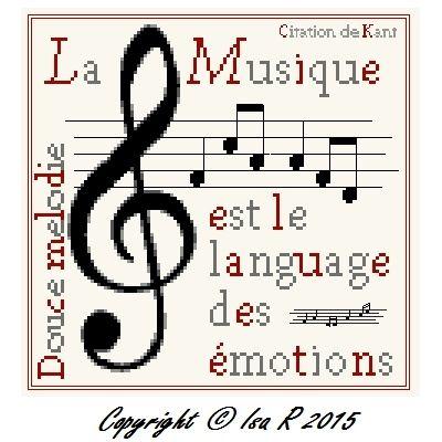 3 Citations musicales à broder ( free )