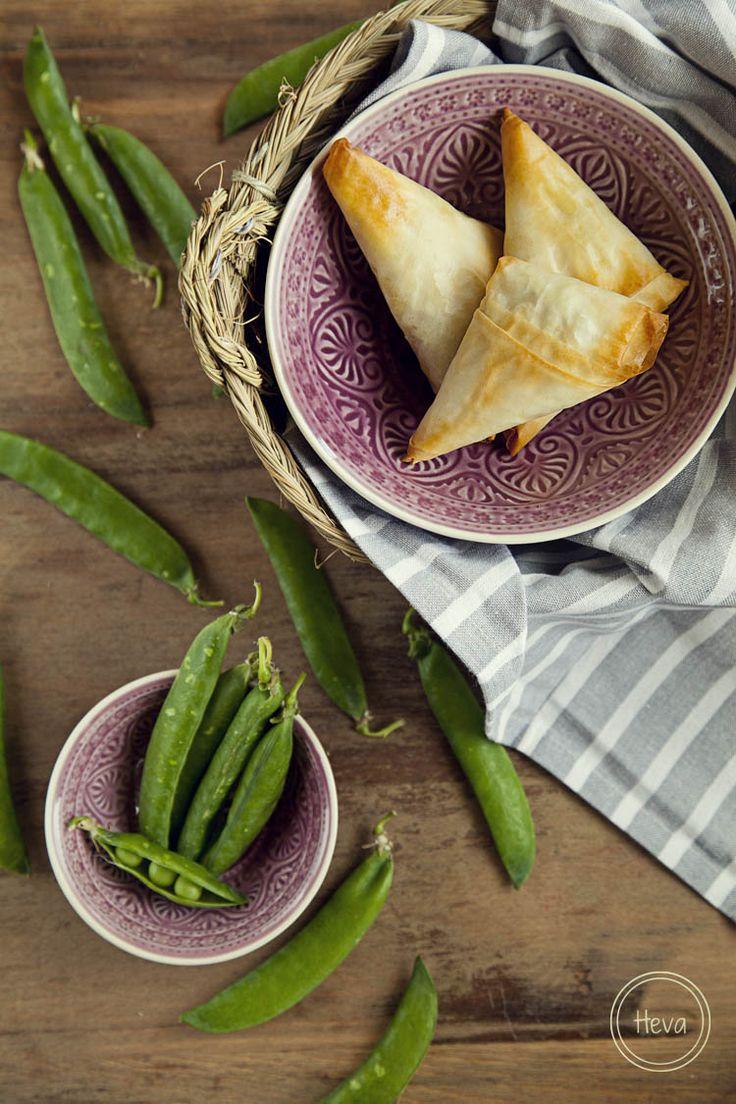 Samosas de guisantes   #Receta de cocina   #Vegana - Vegetariana ecoagricultor.com