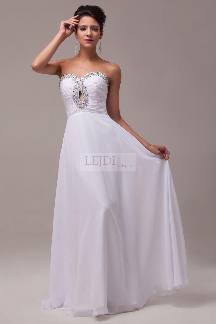 Suknia ślubna z kryształkami w stylu Alicji Węgorzewskiej