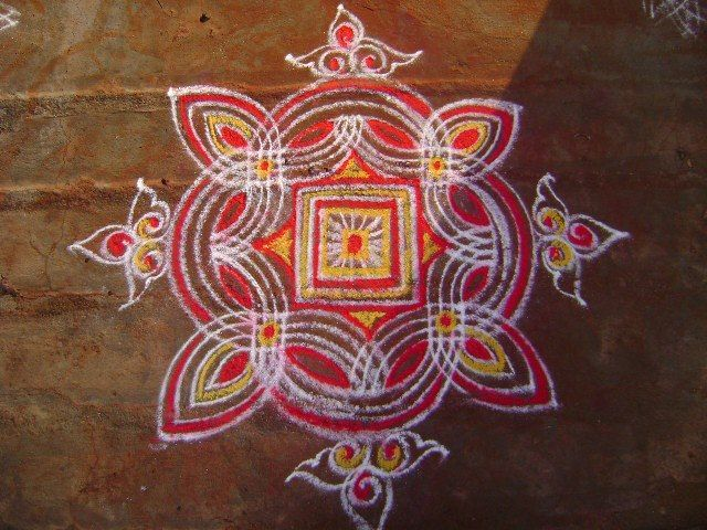 77 best kolams art work on the floor images on pinterest for Floor rangoli design