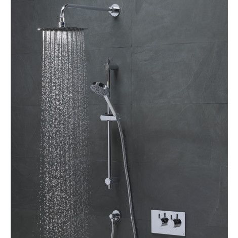 Event round concealed dual function shower system | Roper Rhodes
