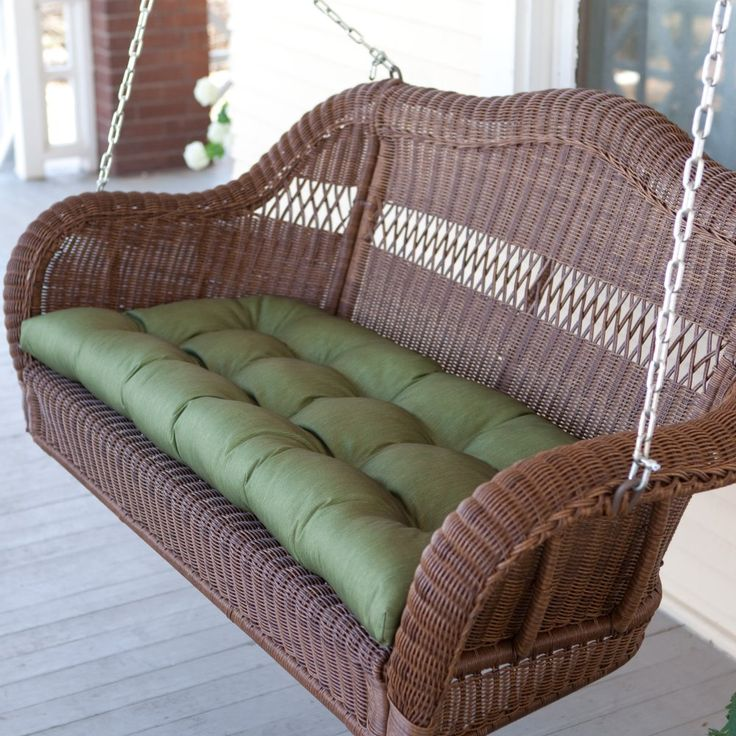 Coral Coast Casco Bay Resin Wicker Porch Swing with Optional Cushion - A hot cup a tea or a cool margarita - that's all that's missing from the Casco Bay Resin Wicker Porch Swing with Optional Cushion. Now this po...