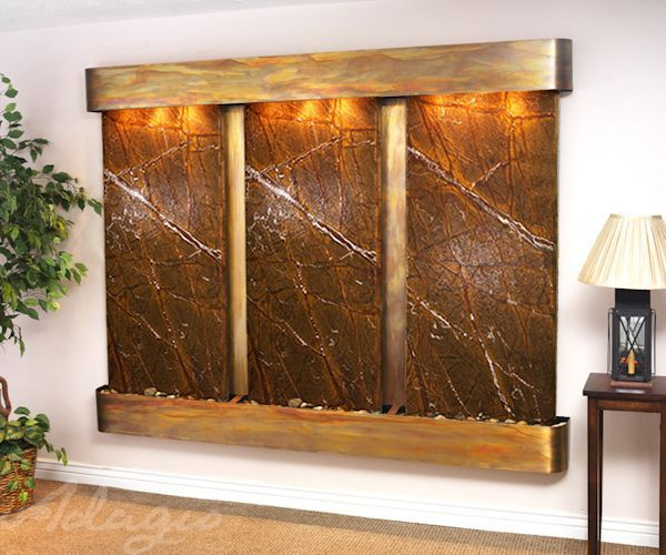 How To Integrate Interior Wall Fountains In Your Home: This Magnificent Indoor Waterfall Includes Natural Marble