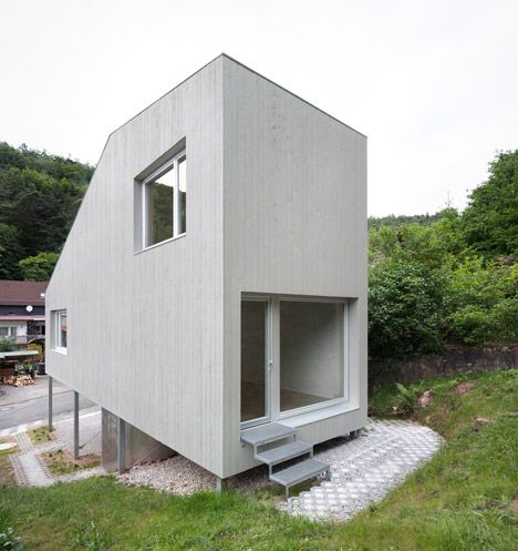 Tiny two-room house in Germany measuring just three metres wide