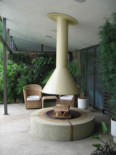 Fire Pit Hood Chimney ~ Love this hope to get use someday for the