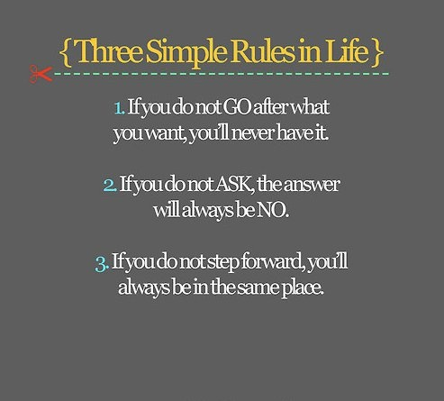 : Sayings, Life, Simple Rules, Truth, Wisdom, Thought, Inspirational Quotes, Three Simple