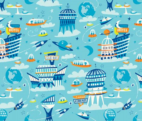 163 best products i love images on pinterest custom for Spaceship fleece fabric