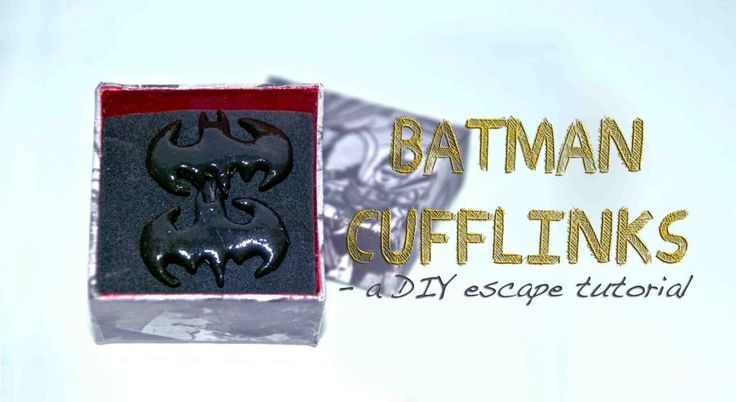 DIY Batman cufflinks! A step by step tutorial