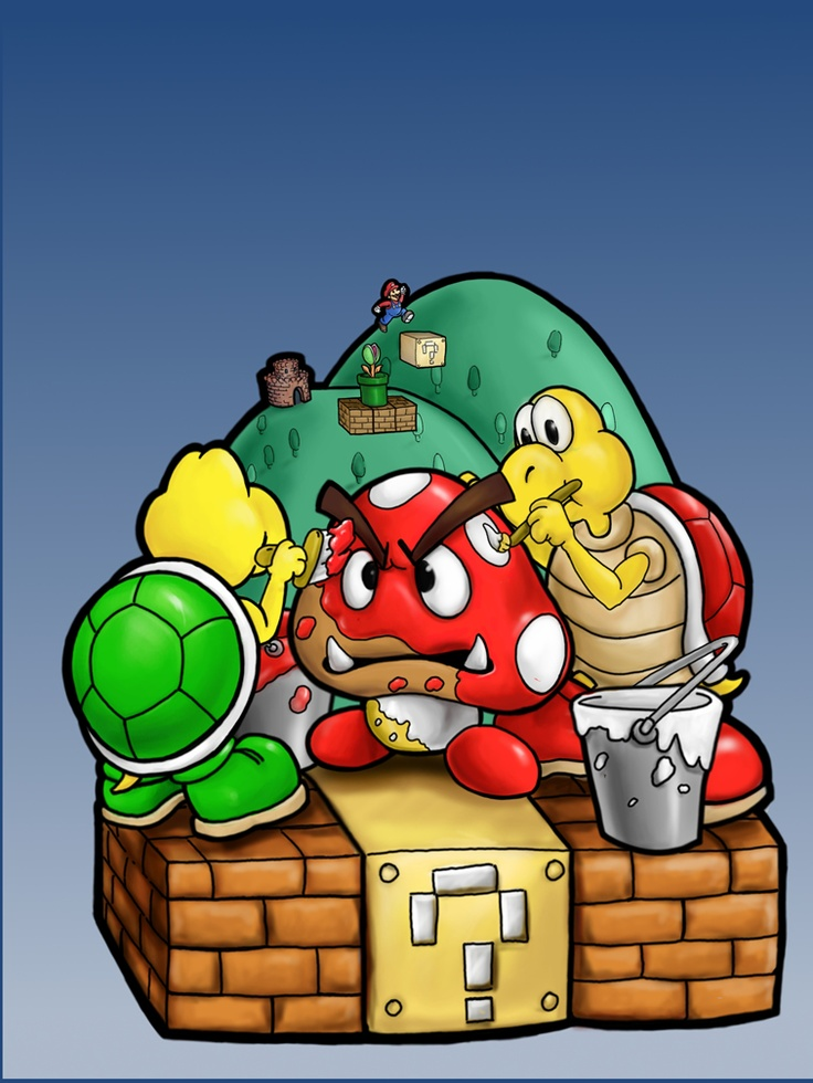 Mario Drawing Super Piranha Plant