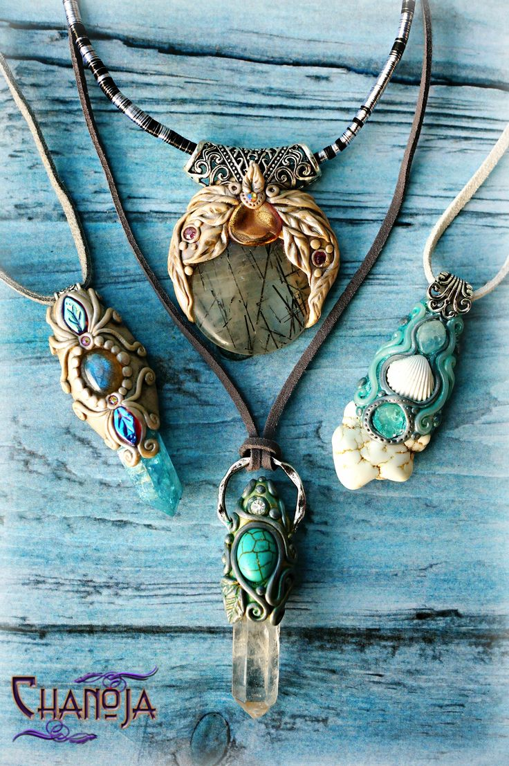 Ethereal Aqua Collection. A hommage to the Sea and the world of the Mermaids! By Chanoja Jewelry. Pure Magic! My Shop: www.chanojajewelry.etsy.com