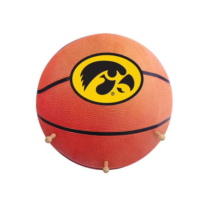 Iowa Hawkeyes Basketball Coat Hanger, Multicolor