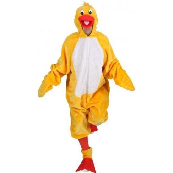 Eend dierenpak voor volwassenen  Eend dierenkostuum voor volwassenen. Dit gele vogel pak is gemaakt van 100% polyester. One size (M/L)  EUR 69.95  Meer informatie