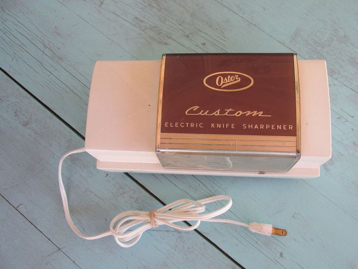 Oster CUSTOM Vintage 1950's Collectible Electric Knife Sharpener Model 523 in working condition - Made in USA by MarblecupcakesloftCo on Etsy