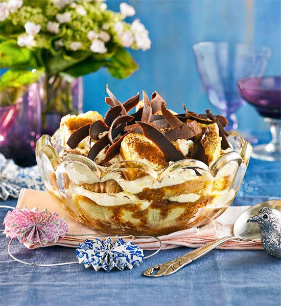 Tiramisu trifle: This Italian-inspired beauty is the coffee and cake course all wrapped up in one. Mamma mia!