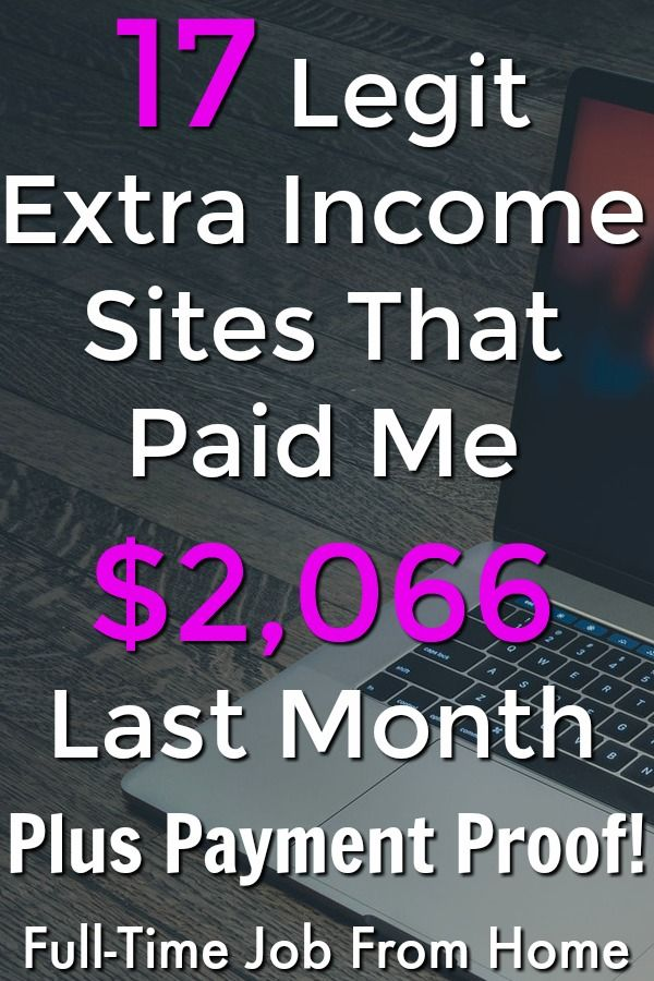 17 Legit Extra Income Sites That Paid Me 2 066 85 Payment Proof Full Time Job From Home Extra Cash Online Extra Income Making Extra Cash