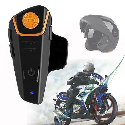 ﹩37.99. BT-S2 1000m Waterproof Bluetooth Motorcycle Headset Helmet Bike-to-bike Intercom