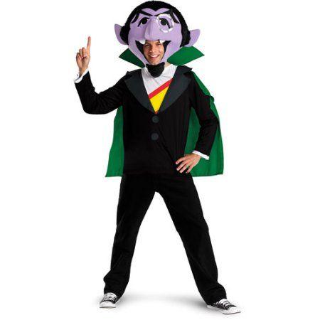 Sesame Street The Count Adult Halloween Costume, Men's, Size: XL, Multicolor