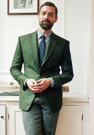 【50代】グリーンジャケット×スラックスの着こなし(メンズ) | Italy Web