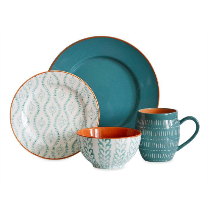 Tangiers 16 Piece Dinnerware Set