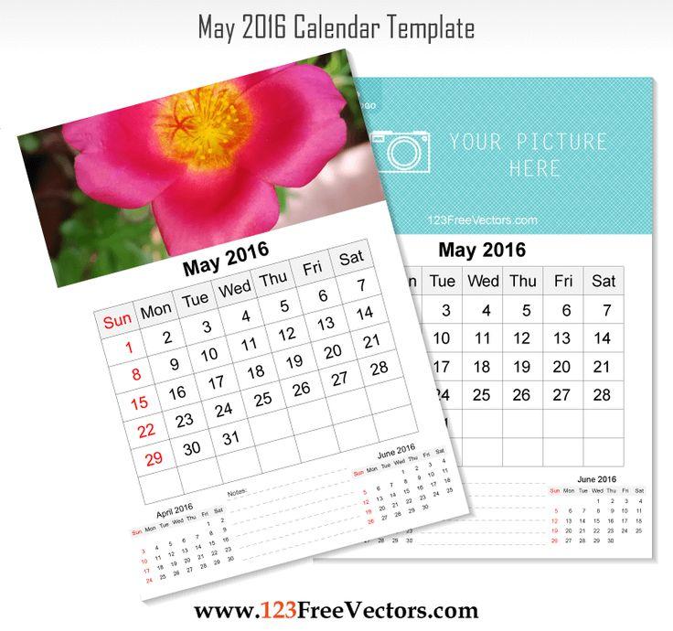 May Calendar Vector : Best images about calendar template on pinterest
