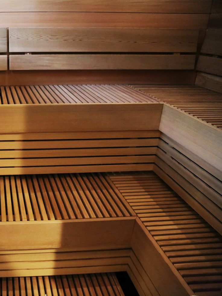 Find your inspiration from those beautiful sauna benches.  #SAWO #SAWOsauna #saunabenches #lauteet #sauna