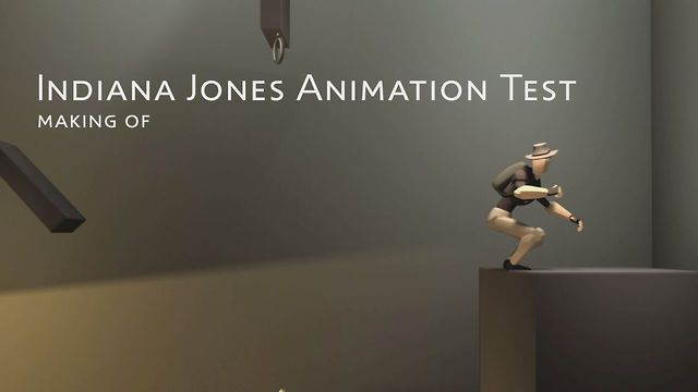Briefly explaining some of the steps for creating the Indiana Jones test animation