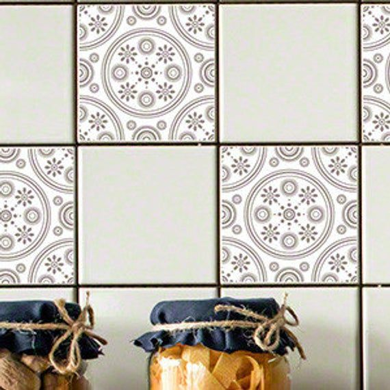 Odhams Press Chartwell Yellow Re-Tile Decal with Clear Background 4