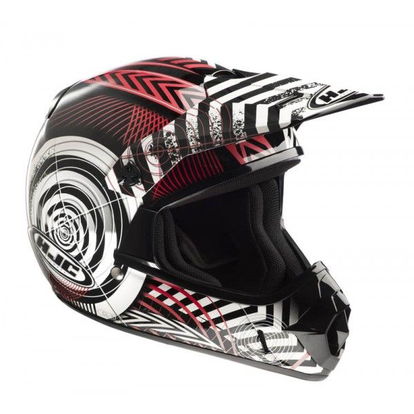 Casque Hjc CLXY Wanted Mc1 #casque #enfant #speedway #red #rouge #moto #cross #motocross