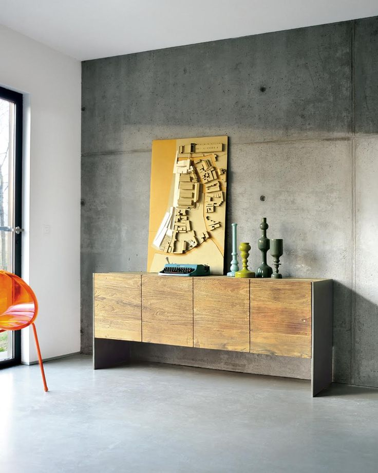 BRIDGE | A modern design sideboard, perfect for both the living room and the dining room. The four antique Bridge elm doors enhance the metal sides.  #NatureDesign #madeinitaly