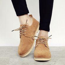 Promoção! Novo inverno estilo britânico rendas até Nubuck couro sapatos casuais plano da mulher Heel sólidos Oxford Shoes mulher(China (Mainland))