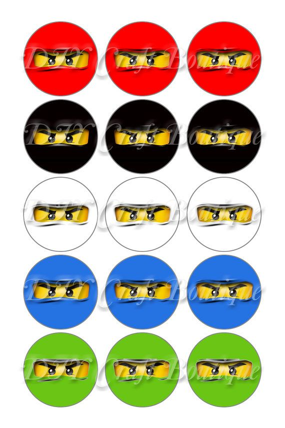 INSTANT DOWNLOAD / Lego Ninjago Gesichter von DIYCraftBoutique                                                                                                                                                                                 Mehr