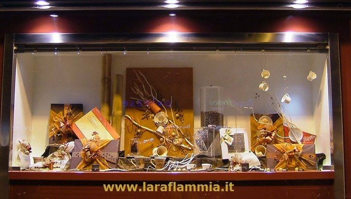 Window for a Coffee bar in Rome. www.laraflammia.it Write to laraflammia@gmail.com