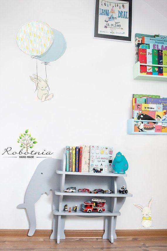 Large 32 Elephant Shelf Shelf For Baby Nursery Kids Room Wall