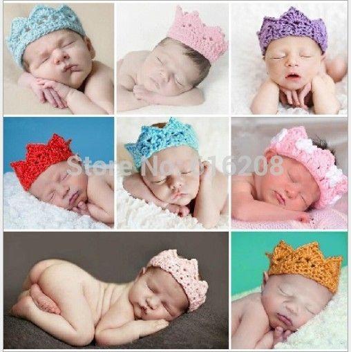 Подарки для детей Новый стиль корона стиль шапка ручной работы крючком фотографии реквизит новорожденного колпачок