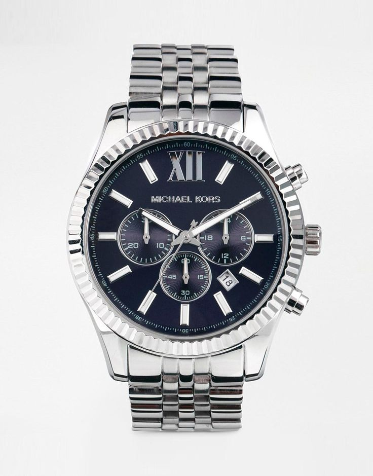 Image 1 of Michael Kors MK8280 Watch Lexington Chronograph Silver