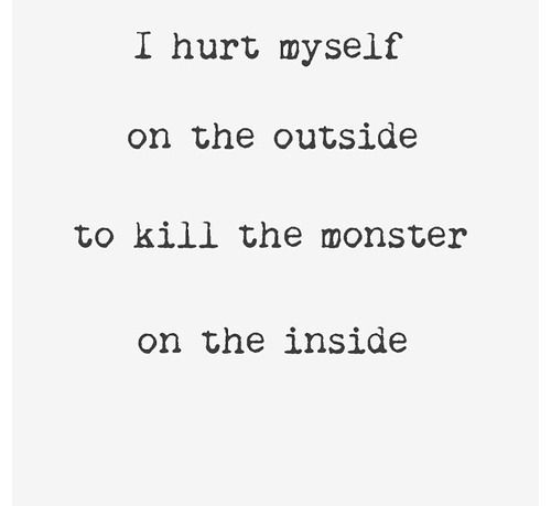 Self Harm Quotes 91 Best Self Harm Quotes Images On Pinterest  Depressing Quotes .