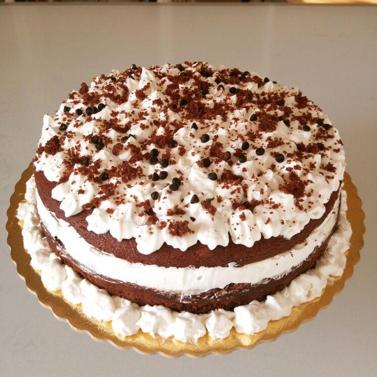 Torta moretta con ripieno di crema al mascarpone e nutella!
