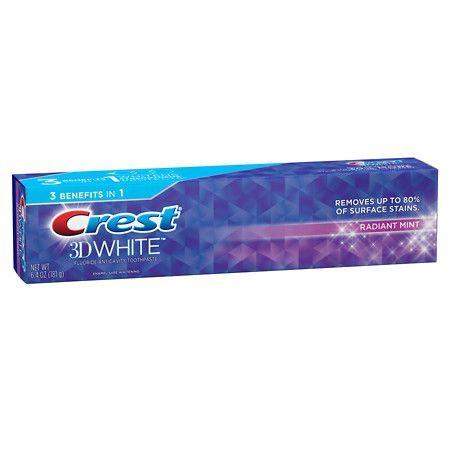 Crest 3D White Whitening Toothpaste Radiant Mint - 6.4 oz.  http://getfreecharcoaltoothpaste.tumblr.com