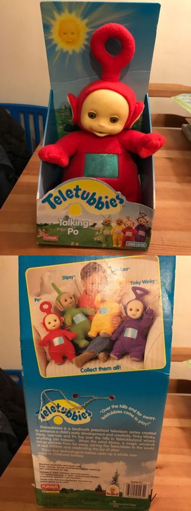 Teletubbies 756: 1998 Talking Po Teletubbies Plush Red New In Box Playskool -> BUY IT NOW ONLY: $35.99 on eBay!