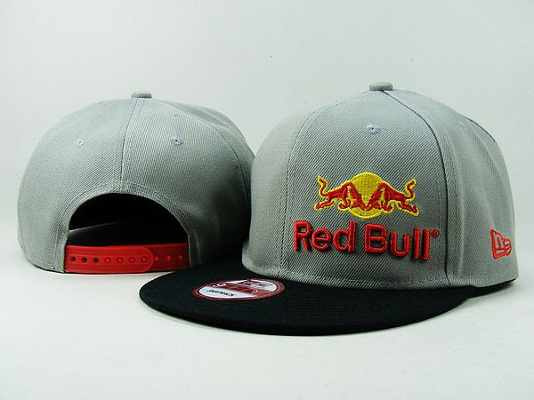 New Era Red Bull Snapback Hats Cap Grey